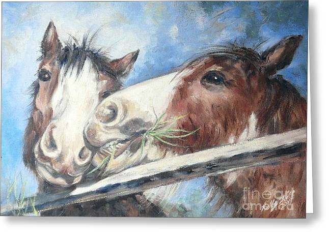 Clydesdale Pair Greeting Card