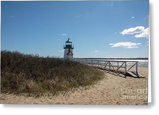 Coastal Brant Light House Greeting Card