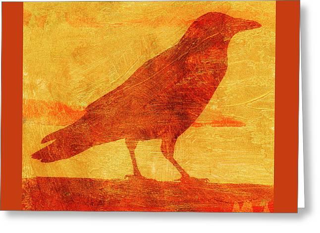 Coastal Crow Two Greeting Card