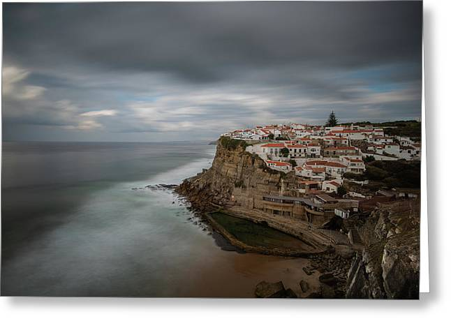 Greeting Card featuring the photograph Coastal Village Of Azenhas Do Mar In Portugal by Michalakis Ppalis