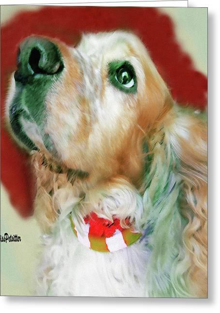 Cocker Spaniel Painting Greeting Card