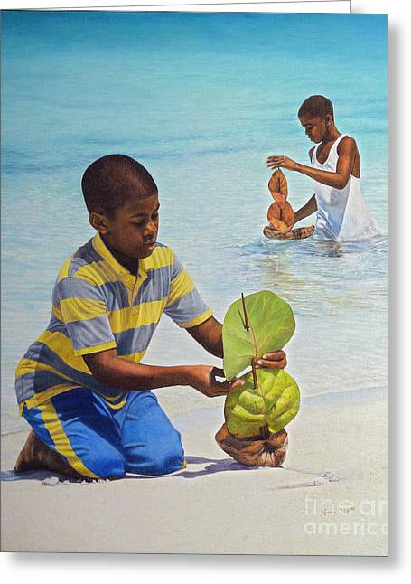 Coconut Boats Greeting Card