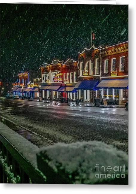 Cold Night In Cripple Creek Greeting Card