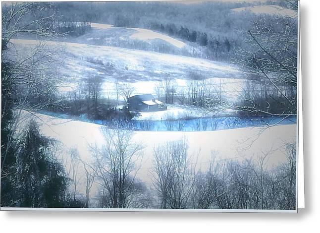 Cold Valley Greeting Card