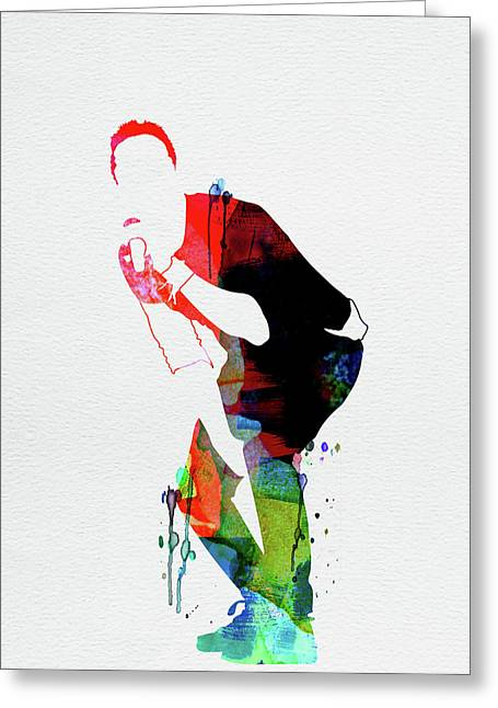 Coldplay Watercolor Greeting Card