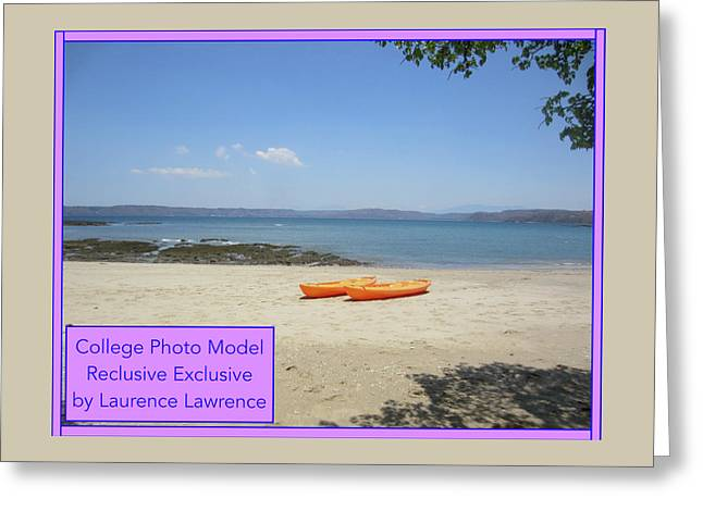 College Photo Model Bn Greeting Card