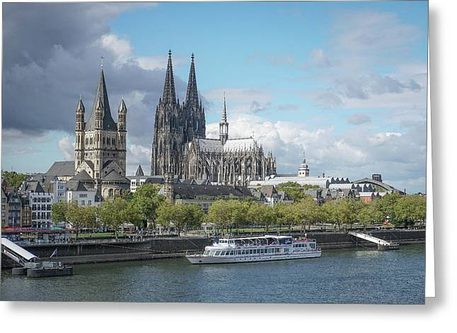 Greeting Card featuring the photograph Cologne, Germany by Jim Mathis