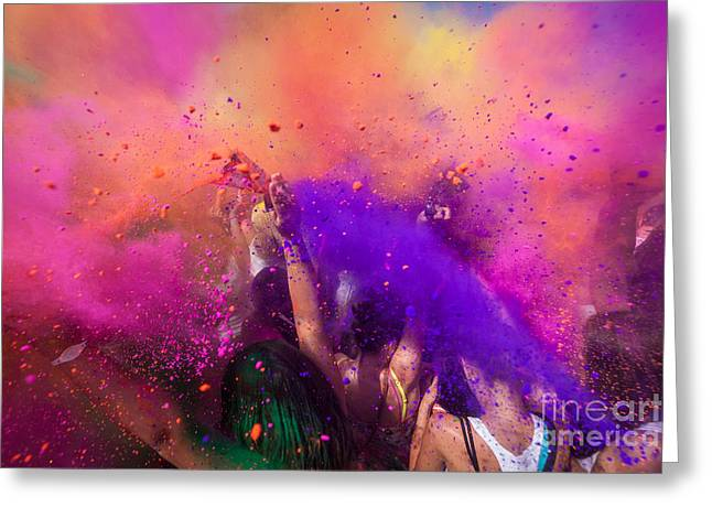 Color Festival Greeting Card