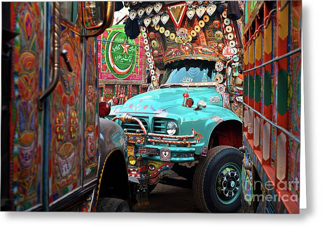 Truck Art Greeting Card