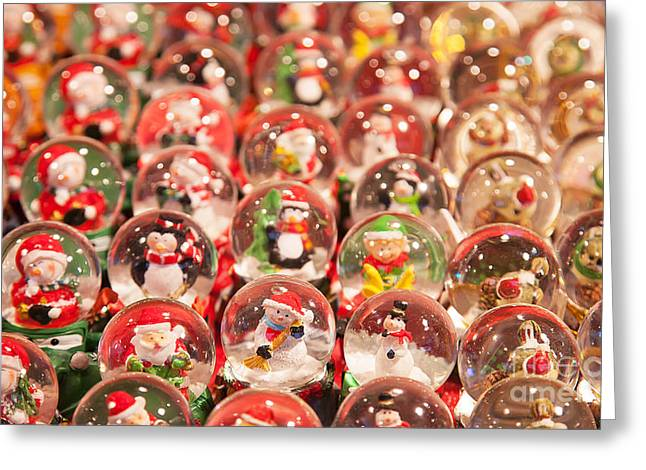 Colorful Christmas Market In Greeting Card