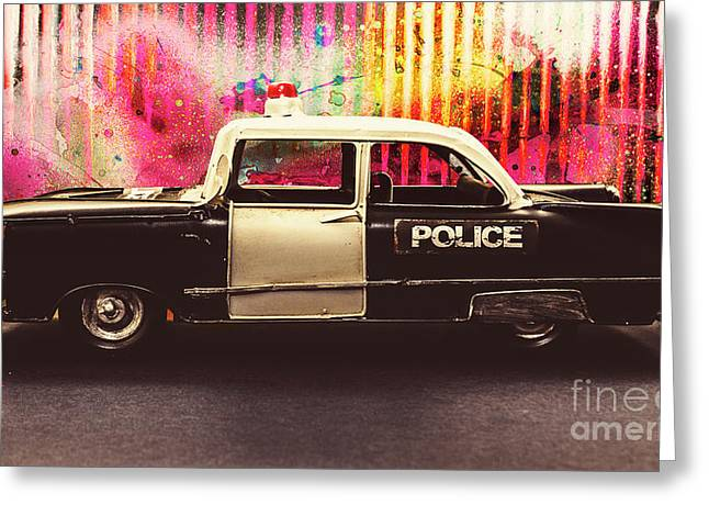 Colorful Crime  Greeting Card