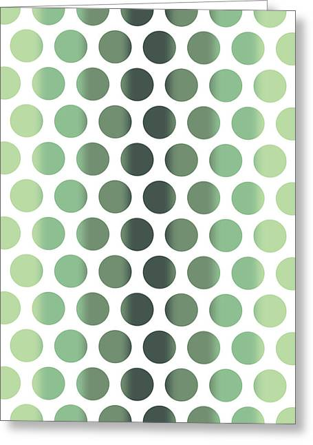Colorful Dots Pattern - Polka Dots - Pattern Design 1 - Slate, Blue, Teal, Cream Greeting Card