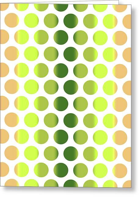 Colorful Dots Pattern - Polka Dots - Pattern Design 2 - Pink, Yellow, Green, Peach Greeting Card