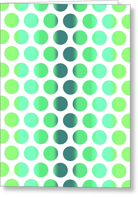 Colorful Dots Pattern - Polka Dots - Pattern Design 3 - Turquoise, Teal, Blue, Green, Aqua Greeting Card