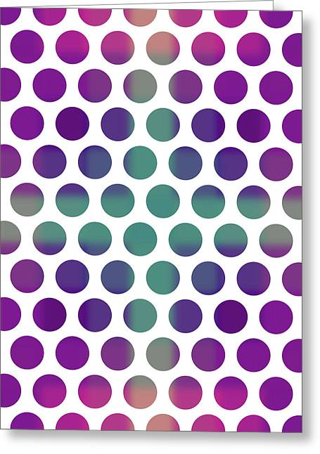 Colorful Dots Pattern - Polka Dots - Pattern Design 4 - Violet, Purple, Indigo Greeting Card