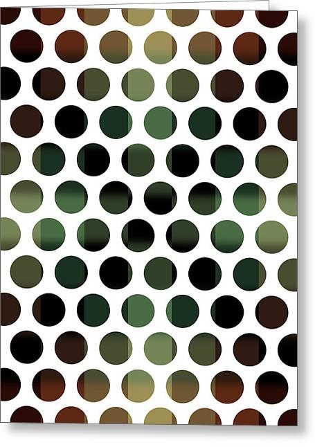 Colorful Dots Pattern - Polka Dots - Pattern Design 5 - Brown, Slate, Grey, Beige, Steel Greeting Card