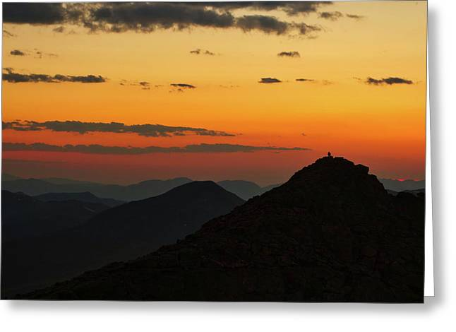 Evening At Mount Evans Greeting Card
