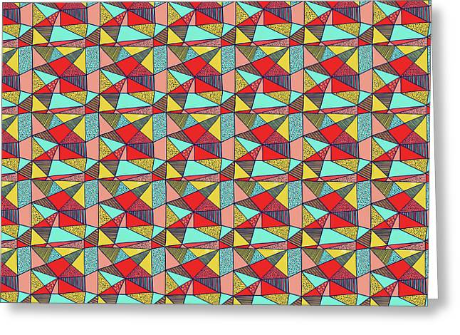 Colorful Geometric Abstract Pattern Greeting Card
