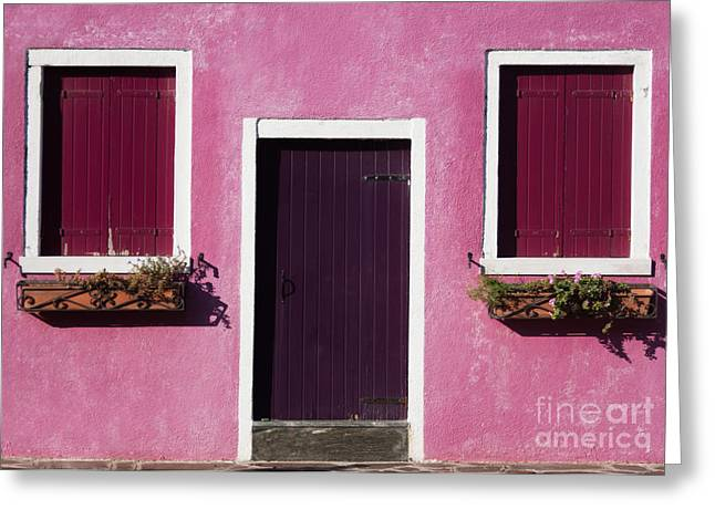 Colorful Geometry Photo Of A House In Greeting Card