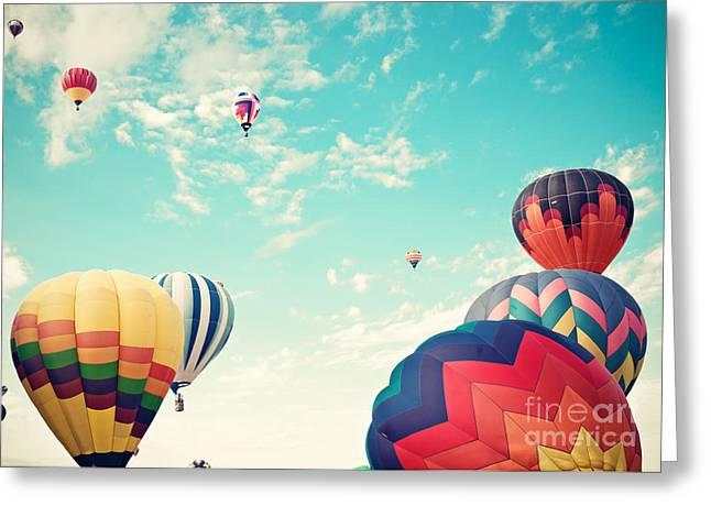 Colorful Hot Air Balloons Greeting Card