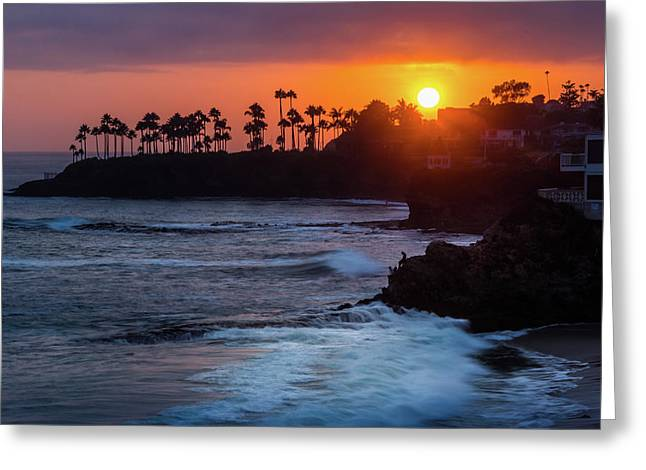 Colorful Laguna Beach Sunset Greeting Card