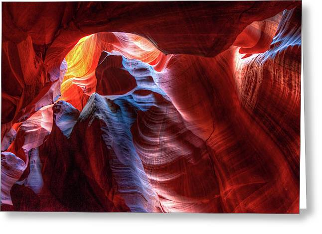 Colorful Layers Of Antelope Canyon Greeting Card