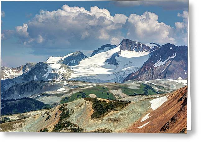 Greeting Card featuring the photograph Colorful Mountain Peaks by Pierre Leclerc Photography