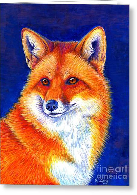 Colorful Red Fox Greeting Card