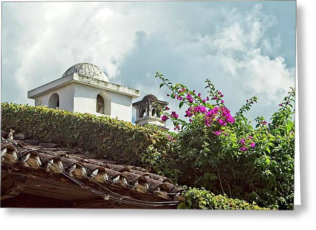 Colorful Rooftop And Cupola  Greeting Card