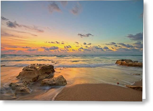 Colorful Seascape Greeting Card