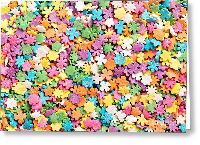 Colorful Sprinkles Background Greeting Card