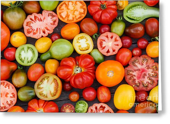 Colorful Tomatoes Greeting Card