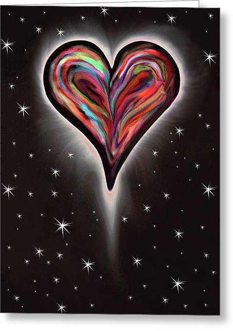 Colorful Total Eclipse Of The Heart 1 Greeting Card