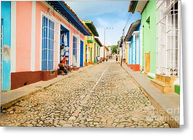 Colorful Traditional Houses In The Greeting Card