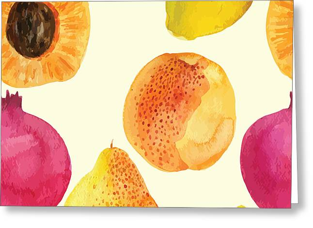 Colorful  Watercolor Vector Fresh Greeting Card by Alexandra Dzh