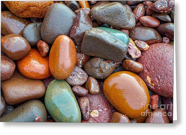 Colorful Wet Stones Greeting Card