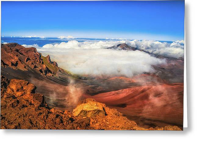 Colors And Clouds Greeting Card by Fernando Margolles