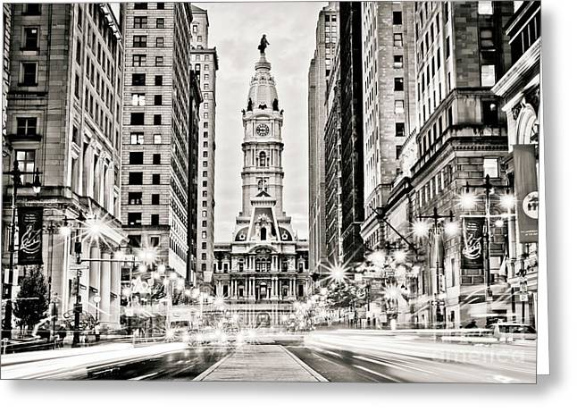 Colors On Broad B/w Greeting Card by Stacey Granger