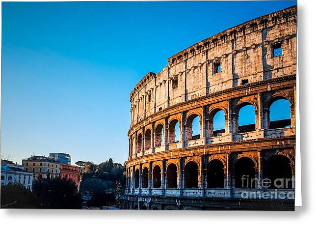 Colosseum In Rome In Rome, Italy Greeting Card