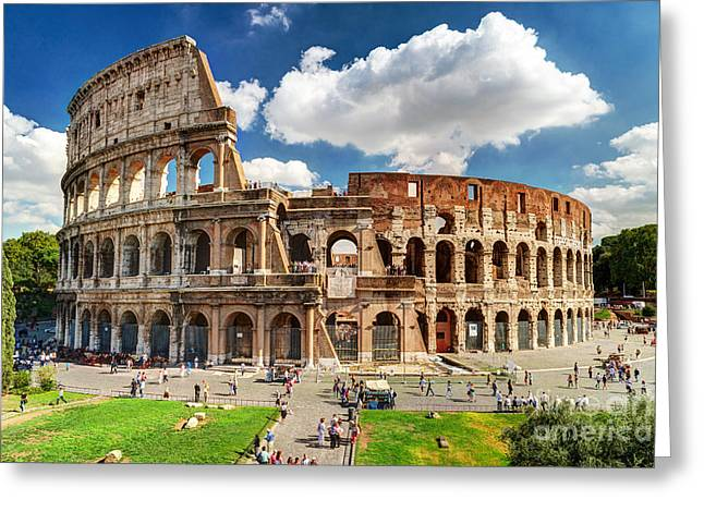 Colosseum In Rome, Italy. Ancient Roman Greeting Card by Viacheslav Lopatin