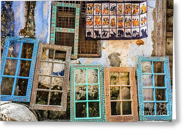 Colorful Window Frames Greeting Card