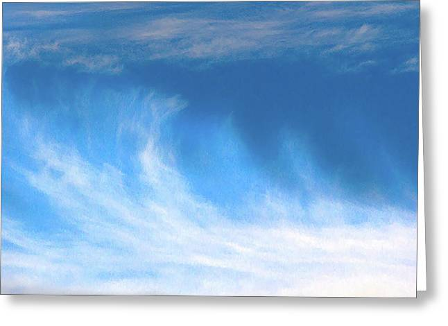Colours. Blue Greeting Card