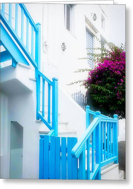 Colours Of Mykonos Greeting Card