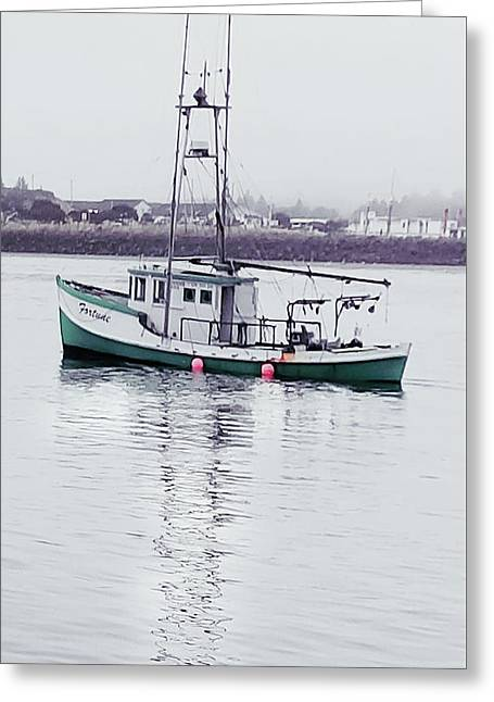 Greeting Card featuring the photograph Fishing Boat Coming Home by Deahn      Benware