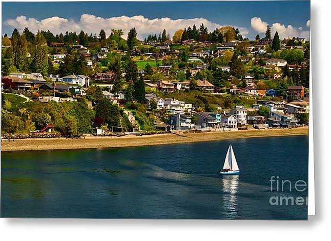 Commencement Bay,washington State Greeting Card