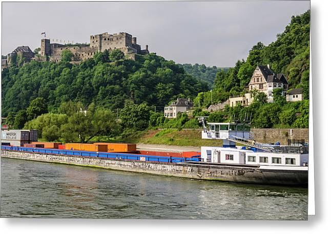 Commerce Along The Rhine Greeting Card