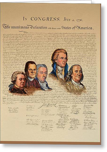 Committee Of Five Greeting Card
