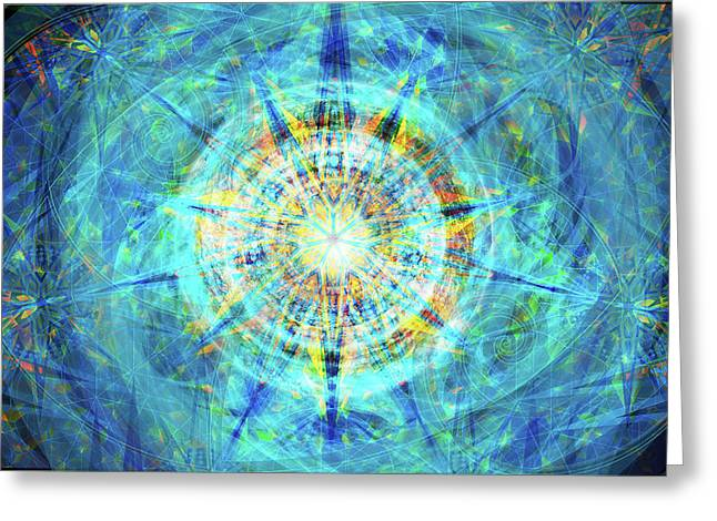 Greeting Card featuring the digital art Concentrica by Kenneth Armand Johnson
