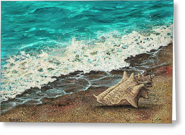 Greeting Card featuring the painting Conch Shell by Darice Machel McGuire