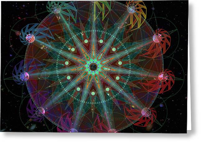 Greeting Card featuring the digital art Conjunction by Kenneth Armand Johnson